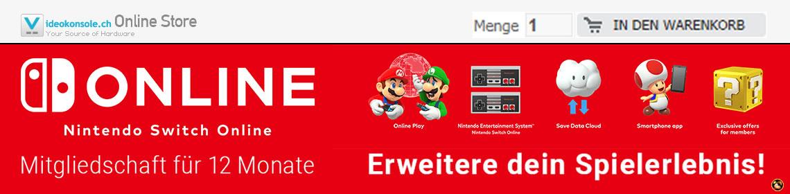 Nintendo Switch Online Mitgliedschaft für 12 Monate