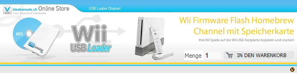 Wii Firmware Flash Homebrew Channel mit Speicherkarte